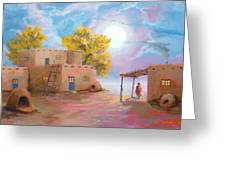 Pueblo De Las Lunas Greeting Card by Jerry McElroy