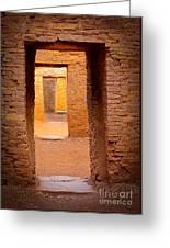 Pueblo Doorways Greeting Card