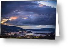 Puentedeume From Cabria Noguerosa Galicia Spain Greeting Card