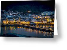 Puentedeume View From Cabanas Galicia Spain Greeting Card