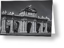 Puerta De Alcala Greeting Card by Susan Candelario