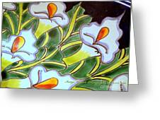 Calla Lillies Splashed Greeting Card