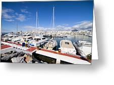 Puerto Banus Marina In Spain Greeting Card
