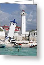 Puerto Morelos Lighthouse Greeting Card