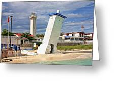 Puerto Morelos Lighthouses Greeting Card