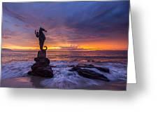 Puerto Vallarta Seahorse Greeting Card