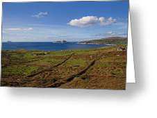 Puffin Island From The Skelligs Ring Greeting Card