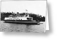 Puget Sound Ferry Boat Greeting Card