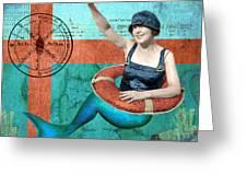 Puget Sound Mermaid  Greeting Card