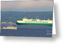 Puget Sound Shipping Waterway Greeting Card