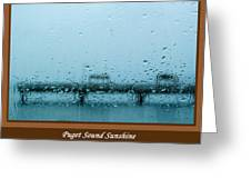 Puget Sound Sunshine Greeting Card