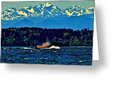 Puget Sound Tugboat Greeting Card