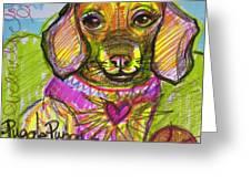 Puggle Puppy Love Greeting Card
