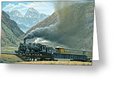 Pulling For Silverton Greeting Card by Paul Krapf