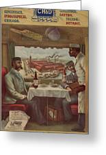 Pullman Compartment Cars Ad Circa 1894 Greeting Card