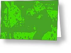 Pulp Fiction Dance Green Greeting Card