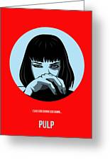 Pulp Fiction Poster 3 Greeting Card