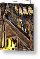 Pulpit In The Aya Sofia Museum In Istanbul Greeting Card by David Smith