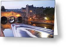 Pulteney Bridge And Weir Bath Greeting Card