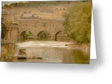 Pulteney Bridge In Bath Greeting Card