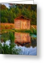 Pump House Reflection Greeting Card