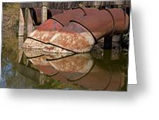 Pumphouse Intake Pipes Greeting Card