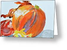 Pumpkin And Pomegranate Greeting Card