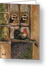 Pumpkin At Christmas Greeting Card by Anita Dale Livaditis
