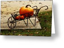 Pumpkin Barrow Greeting Card