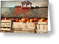 Pumpkin Crates Barn  Greeting Card