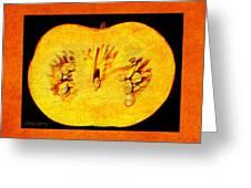 Pumpkin Half Greeting Card