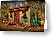Pumpkin House Greeting Card