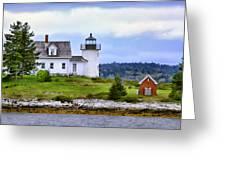 Pumpkin Island Light Greeting Card