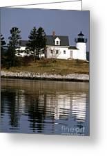 Pumpkin Island Lighthouse Greeting Card