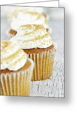 Pumpkin Spice Cupcake With Cream Cheese Icing Greeting Card