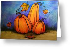 Pumpkin Trio Greeting Card