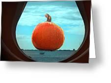 Pumpkin View Greeting Card