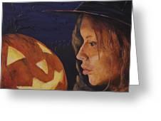 Pumpkin Witch Greeting Card