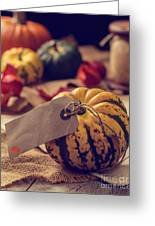 Pumpkins With Label Greeting Card