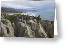 Punakaiki Pancake Rocks Greeting Card