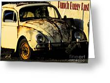 Punch Buggy Rust Greeting Card