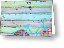 Punctured Bicycle Greeting Card by Danny Phillips