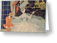 Punishing The Page  Greeting Card by Georges Barbier
