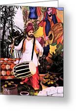 Punjabi Dhol Greeting Card