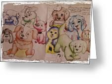 Pups  Greeting Card
