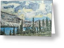 Pure North - Bow Lake Alberta Greeting Card