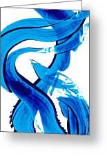 Pure Water 302 - Blue Abstract Art By Sharon Cummings Greeting Card