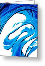 Pure Water 315 - Blue Abstract Art By Sharon Cummings Greeting Card