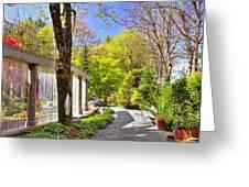Purifying Walk Greeting Card