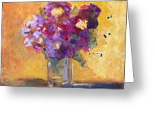 Purple Abstract Greeting Card